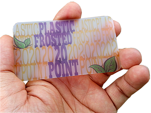 Frosted plastic business cards with round corners graphicsman frosted plastic business cards with round corners colourmoves